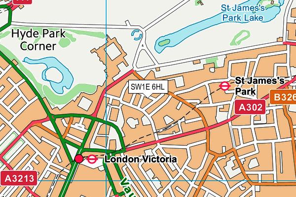 SW1E 6HL map - OS VectorMap District (Ordnance Survey)