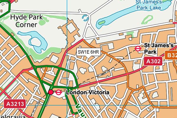 SW1E 6HR map - OS VectorMap District (Ordnance Survey)