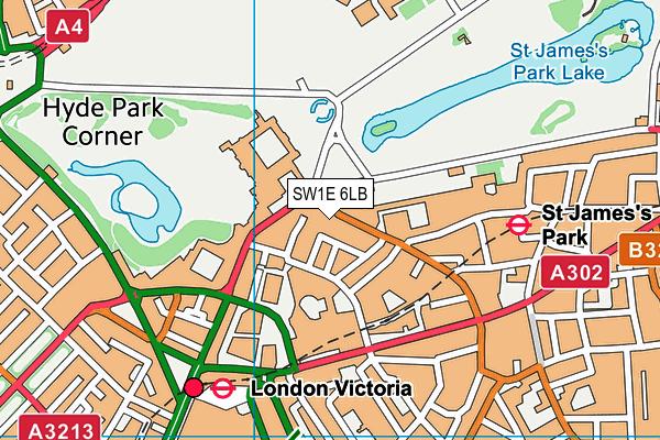 SW1E 6LB map - OS VectorMap District (Ordnance Survey)