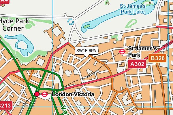 SW1E 6PA map - OS VectorMap District (Ordnance Survey)