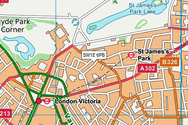 SW1E 6PB map - OS VectorMap District (Ordnance Survey)