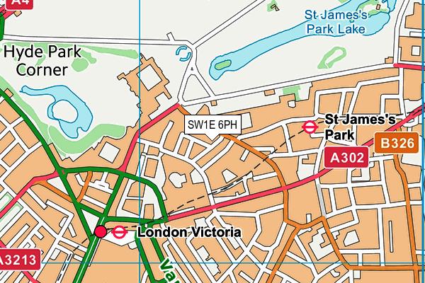 SW1E 6PH map - OS VectorMap District (Ordnance Survey)