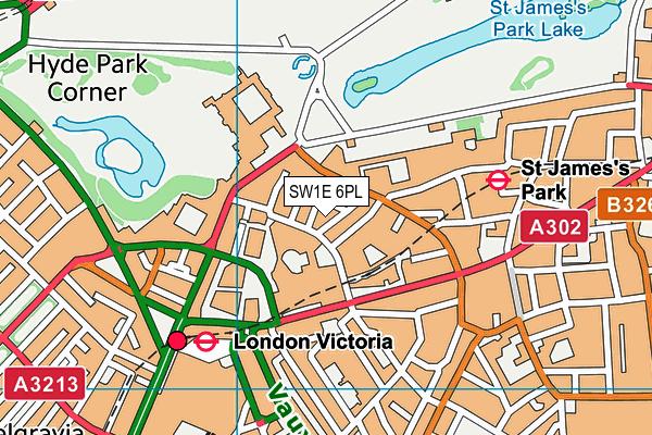 SW1E 6PL map - OS VectorMap District (Ordnance Survey)