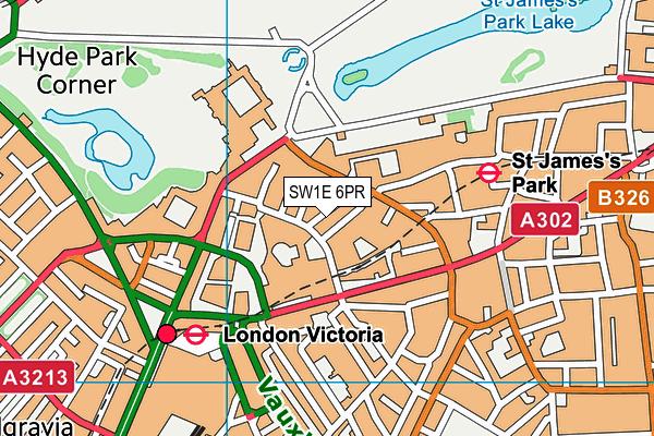 SW1E 6PR map - OS VectorMap District (Ordnance Survey)