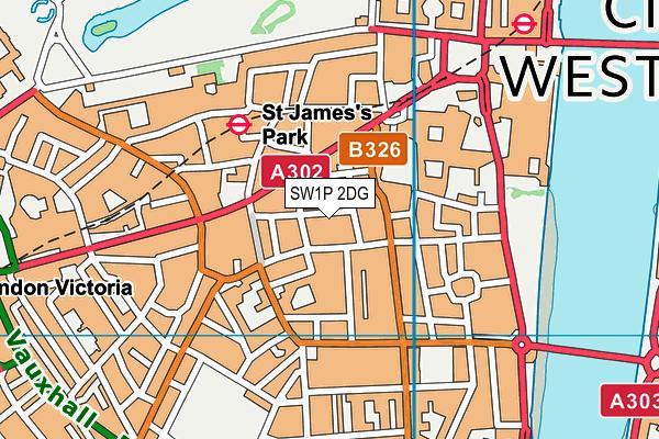 St Matthew's School, Westminster map (SW1P 2DG) - OS VectorMap District (Ordnance Survey)