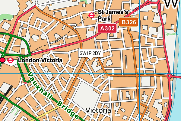 The Grey Coat Hospital map (SW1P 2DY) - OS VectorMap District (Ordnance Survey)