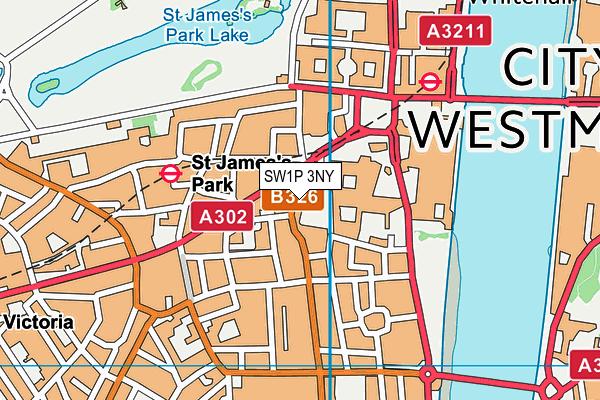 SW1P 3NY map - OS VectorMap District (Ordnance Survey)