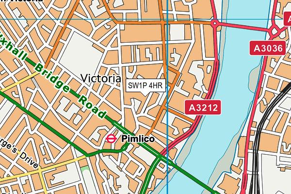 Millbank Academy map (SW1P 4HR) - OS VectorMap District (Ordnance Survey)