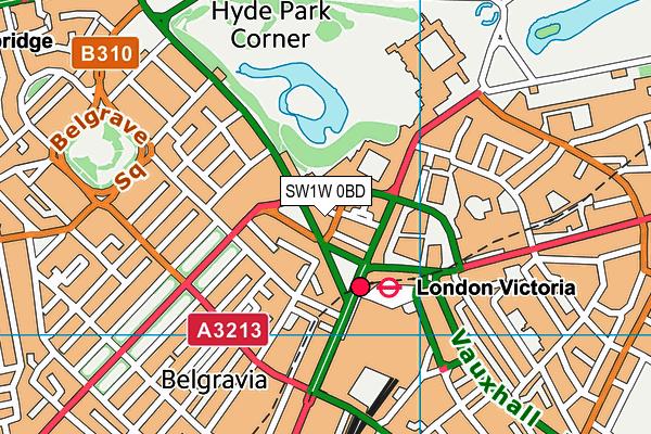 SW1W 0BD map - OS VectorMap District (Ordnance Survey)