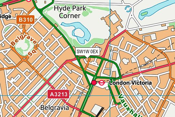 SW1W 0EX map - OS VectorMap District (Ordnance Survey)