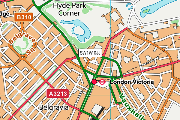 SW1W 0JJ map - OS VectorMap District (Ordnance Survey)
