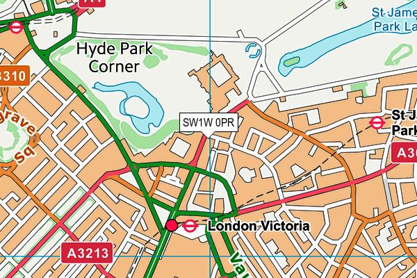 SW1W 0PR map - OS VectorMap District (Ordnance Survey)