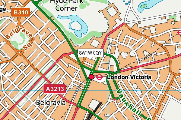 SW1W 0QY map - OS VectorMap District (Ordnance Survey)