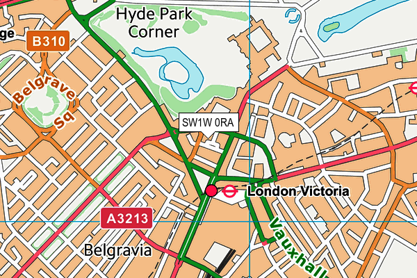 SW1W 0RA map - OS VectorMap District (Ordnance Survey)