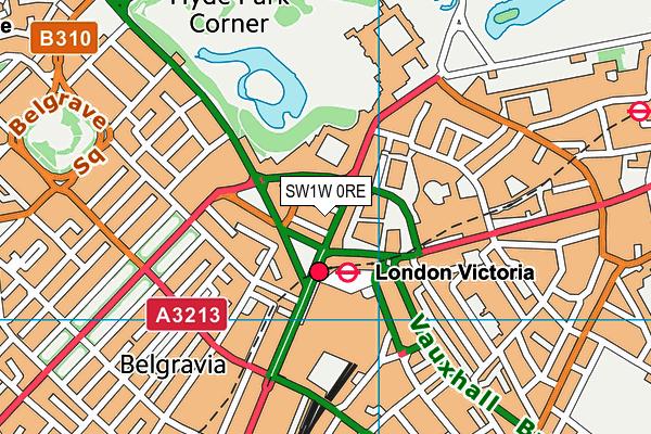SW1W 0RE map - OS VectorMap District (Ordnance Survey)