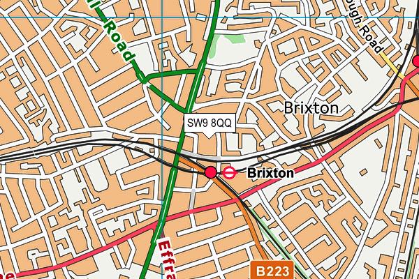 Brixton Recreation Centre map (SW9 8QQ) - OS VectorMap District (Ordnance Survey)