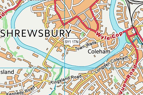 Shrewsbury High School map (SY1 1TN) - OS VectorMap District (Ordnance Survey)