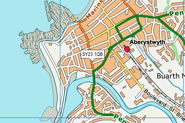 SY23 1QB map - OS VectorMap District (Ordnance Survey)
