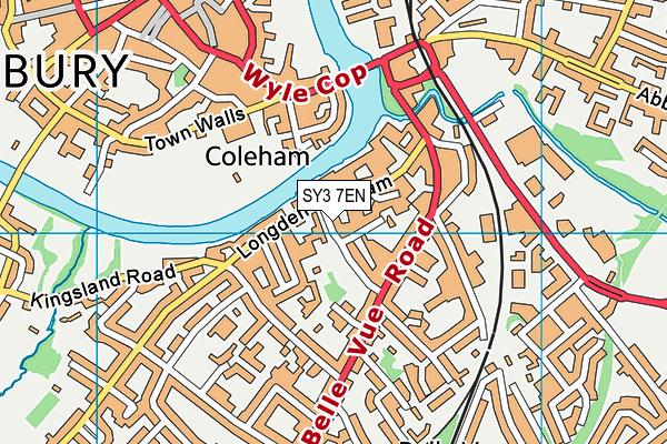 Coleham Primary School map (SY3 7EN) - OS VectorMap District (Ordnance Survey)