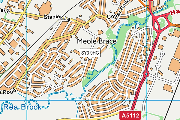 Meole Brace Church of England Primary and Nursery map (SY3 9HG) - OS VectorMap District (Ordnance Survey)