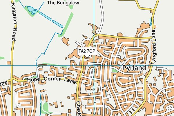 Wellsprings Leisure Centre map (TA2 7QP) - OS VectorMap District (Ordnance Survey)
