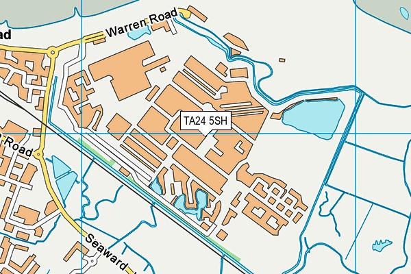 Butlins Skyline map (TA24 5SH) - OS VectorMap District (Ordnance Survey)
