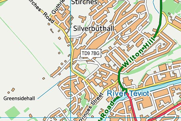 TD9 7BG map - OS VectorMap District (Ordnance Survey)