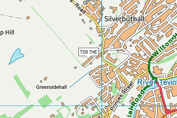 TD9 7HE map - OS VectorMap District (Ordnance Survey)