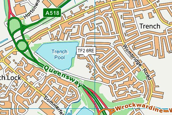 Teagues Bridge Primary School map (TF2 6RE) - OS VectorMap District (Ordnance Survey)