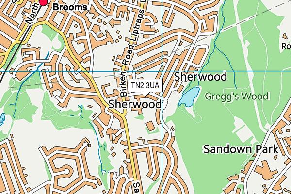 Temple Grove Academy map (TN2 3UA) - OS VectorMap District (Ordnance Survey)