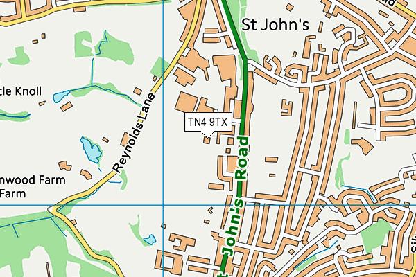 Tunbridge Wells Sports Centre map (TN4 9TX) - OS VectorMap District (Ordnance Survey)
