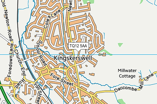 Map of HARTFORD (SW) LIMITED at district scale