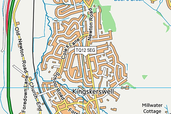 Map of THE SANDY PARK INN LIMITED at district scale