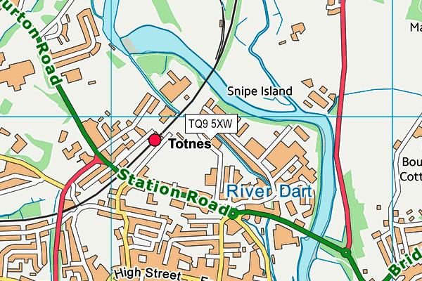 Totnes Leisure Centre map (TQ9 5XW) - OS VectorMap District (Ordnance Survey)