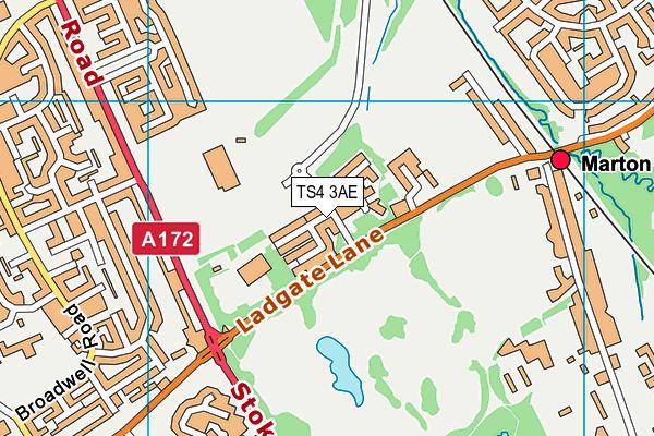 Middlesbrough Sports Village map (TS4 3AE) - OS VectorMap District (Ordnance Survey)