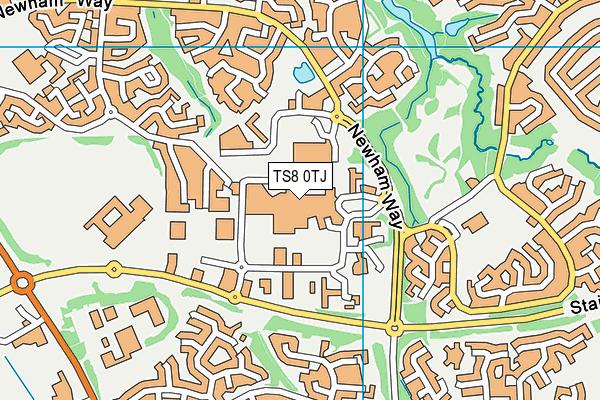 Rainbow Leisure Centre map (TS8 0TJ) - OS VectorMap District (Ordnance Survey)