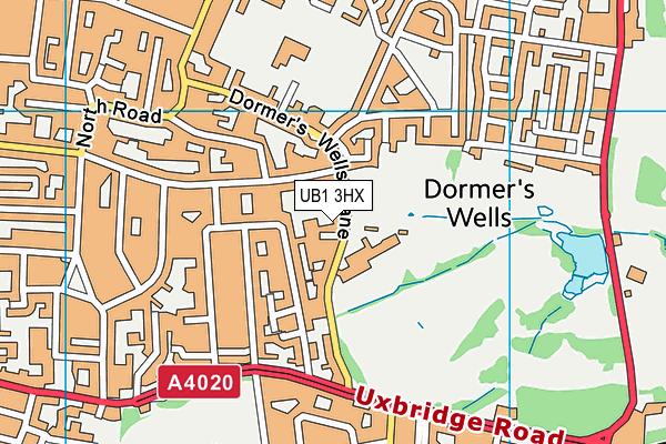 Dormers Wells Leisure Centre map (UB1 3HX) - OS VectorMap District (Ordnance Survey)