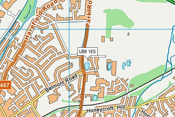 Hillingdon Complex map (UB8 1ES) - OS VectorMap District (Ordnance Survey)
