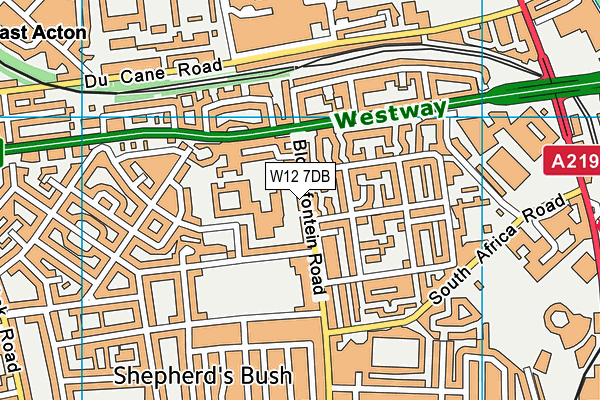 Phoenix Fitness Centre and Janet Adegoke Swimming Pool map (W12 7DB) - OS VectorMap District (Ordnance Survey)