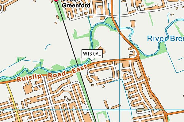 Gurnell Leisure Centre map (W13 0AL) - OS VectorMap District (Ordnance Survey)