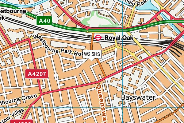 Porchester Hall map (W2 5HS) - OS VectorMap District (Ordnance Survey)