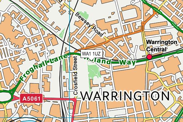 Bank Park map (WA1 1UZ) - OS VectorMap District (Ordnance Survey)
