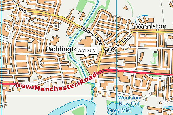 WA1 3UN map - OS VectorMap District (Ordnance Survey)