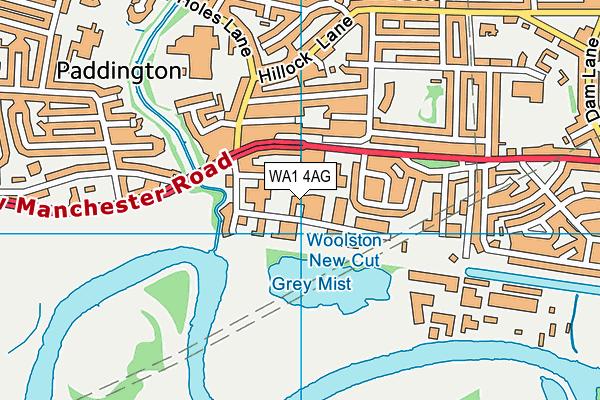 WA1 4AG map - OS VectorMap District (Ordnance Survey)