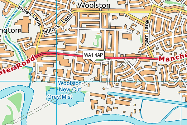 WA1 4AP map - OS VectorMap District (Ordnance Survey)