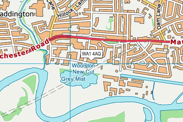 WA1 4AQ map - OS VectorMap District (Ordnance Survey)