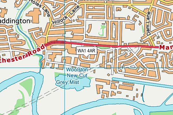 WA1 4AR map - OS VectorMap District (Ordnance Survey)