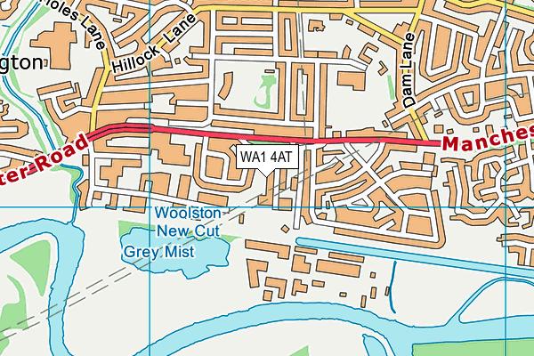 WA1 4AT map - OS VectorMap District (Ordnance Survey)