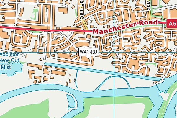 WA1 4BJ map - OS VectorMap District (Ordnance Survey)