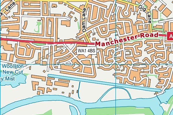 WA1 4BS map - OS VectorMap District (Ordnance Survey)